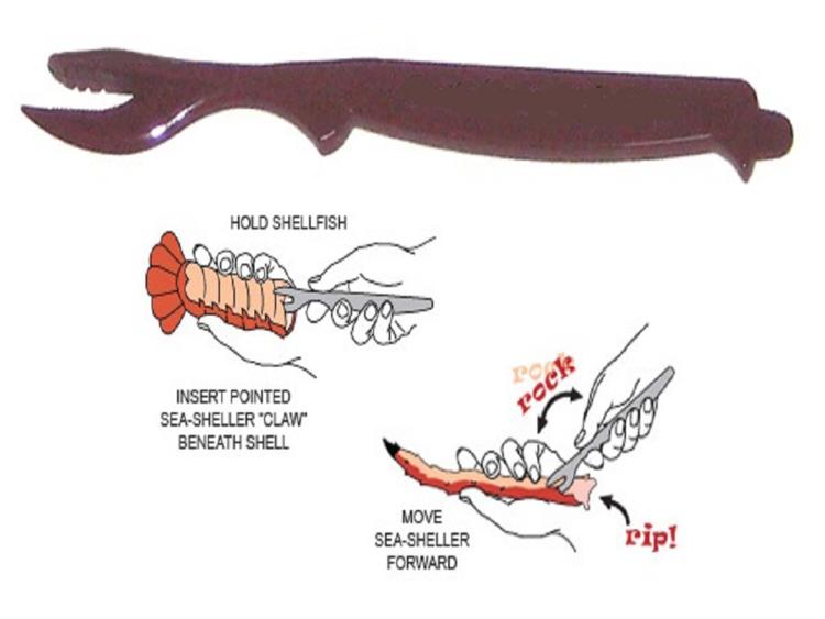 Black Sea-Sheller for Crab Shrimp Lobster 4 pack